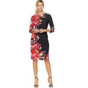 NWT COLLEEN LOPEZ PLACEMENT PRINT SHEATH DRESS M